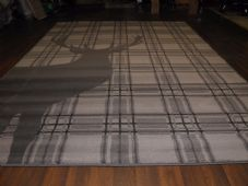 Rugs Approx 8x5 160x230cm Woven Backed Quality rugs stag Checked Dark Grey Nice